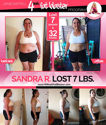 SandraR. Down 20lbs on the Janis Saffell 4 Week Fat Blaster Program