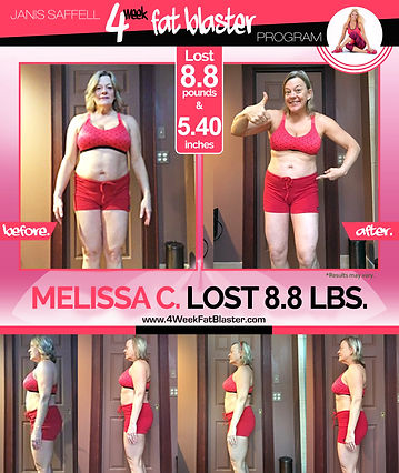 Melissa C. down 14lbs on the Janis Saffell 4 Week Fat Blaster Program