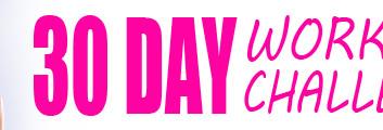 FREE 30-Day Workout Calendar