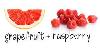 grapefruit + raspberry