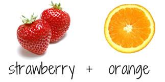 strawberry + orange