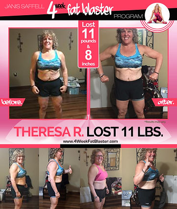 Theresa R. Lost 11lbs on the Janis Saffell 4 Week Fat Blaster Program