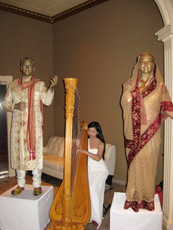 Wedding Statues and Harpist.JPG