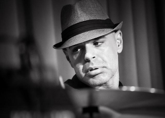 hc oakes Nicholas Elhini drummer sepia.j