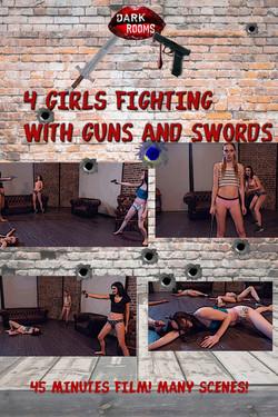 GIRLS SWORD AND GUN FIGHTS