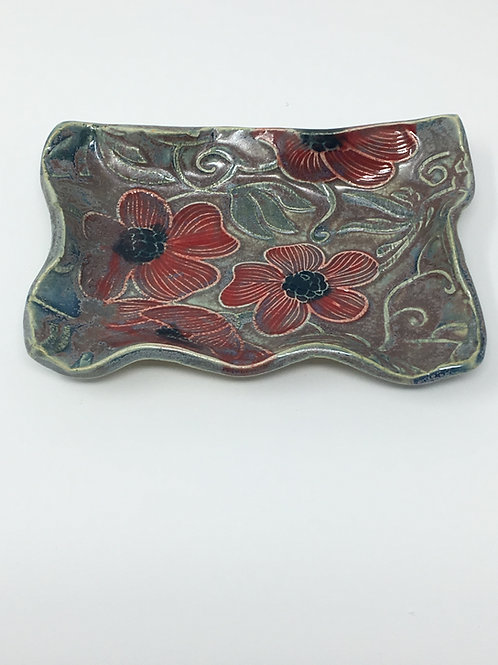 Red and Green soap dish