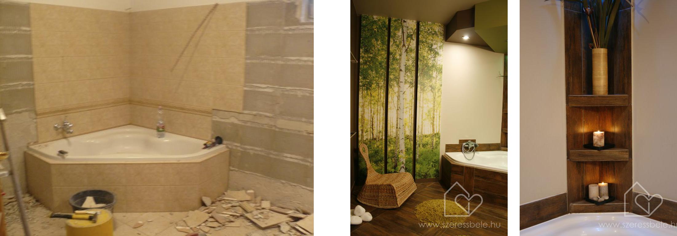 Fürdőszoba  látványos átalakulása I.