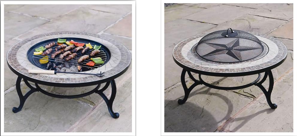 Az asztalként is funkcionáló tűzrakó