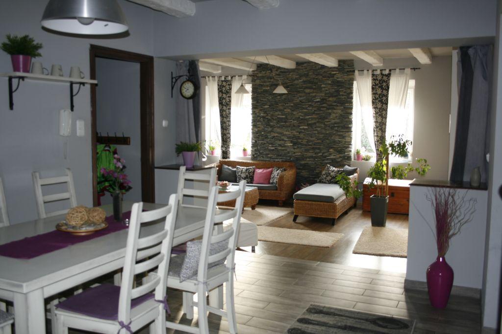 A nappali és az étkező egysége