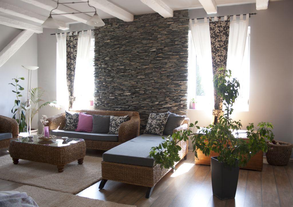 Az átalakított nappali középső része