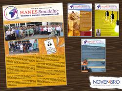 Jornal impresso para a Hanes
