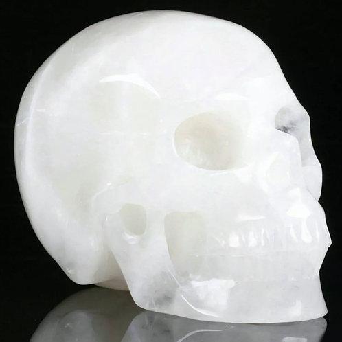 Gemstone Skull: Quartz Full Size