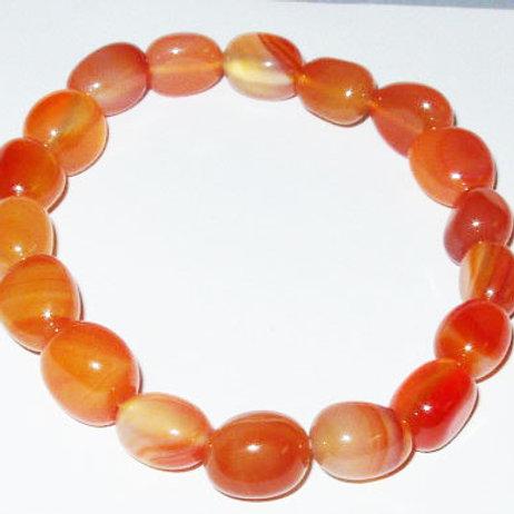 Gemstone Chunky Bracelet: Carnelian