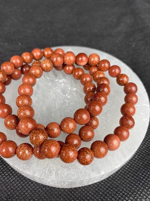 Goldstone Gemstone power bead Bracelet