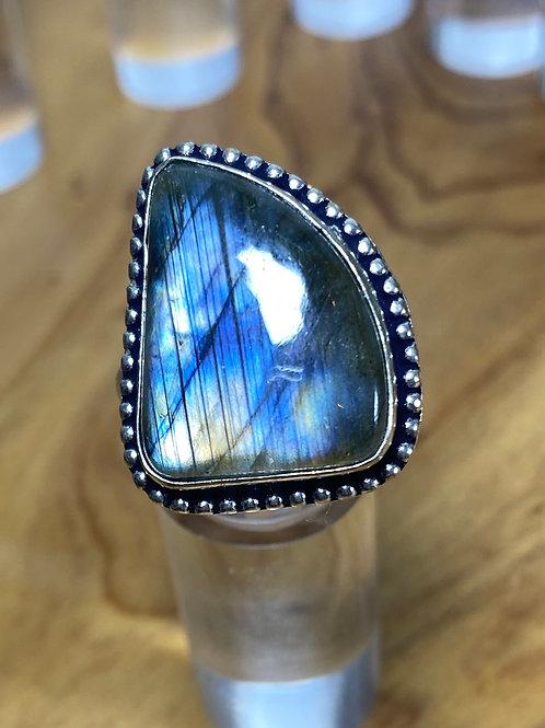 Labradorite Silver Rings