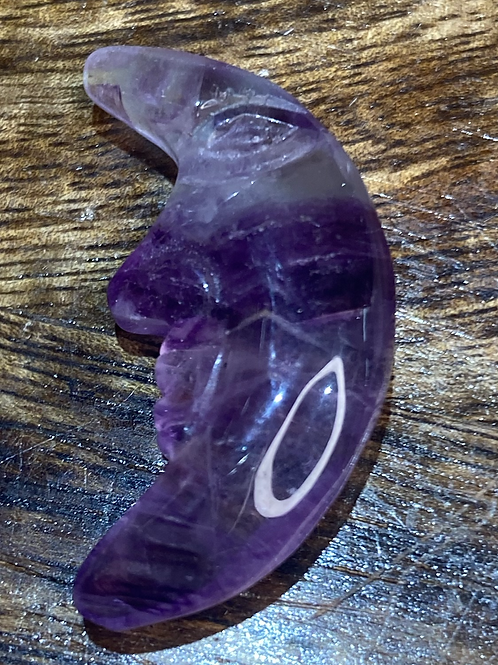 Moon with face:Fluorite