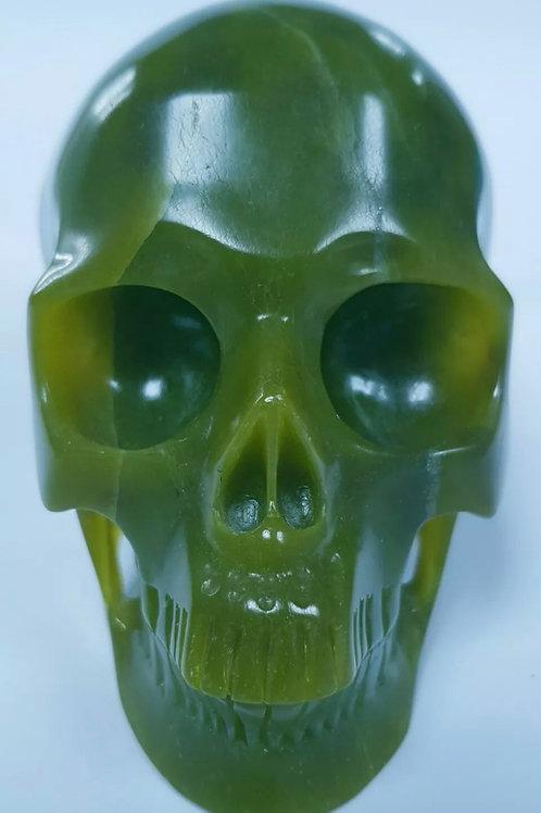 Gemstone Skull: Jade Full Size