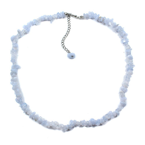 Necklace: Blue Lace Agate