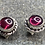 Thumbnail: Gemstone Earring Studs: Garnets