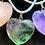 Thumbnail: Heart pendant: Fluorite