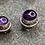 Thumbnail: Gemstone Earring Studs: Amethyst