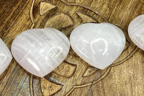 Heart: Mangano Calcite