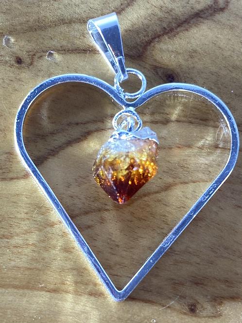 Citrine Heart pendant