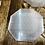 Thumbnail: Selenite hexagon with sacred geometry carving