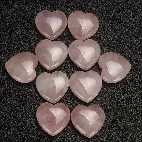 Hearts: Rose Quartz small