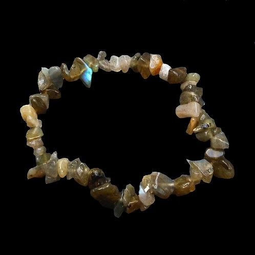 Gemstone Chip bracelets Labradorite