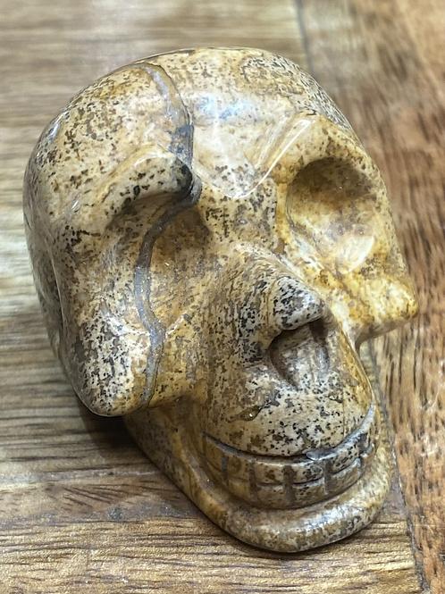 Gemstone Skull: Picture Jasper