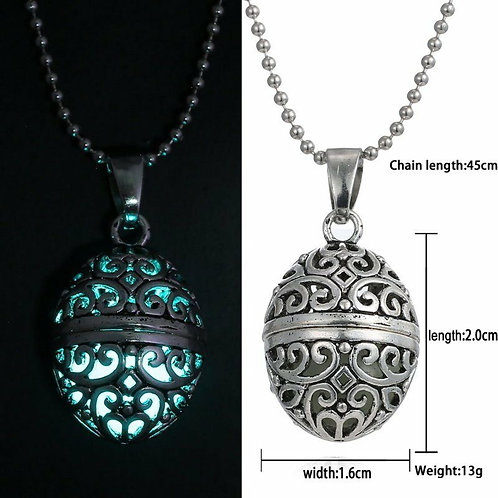Glow in the Dark locket pendant
