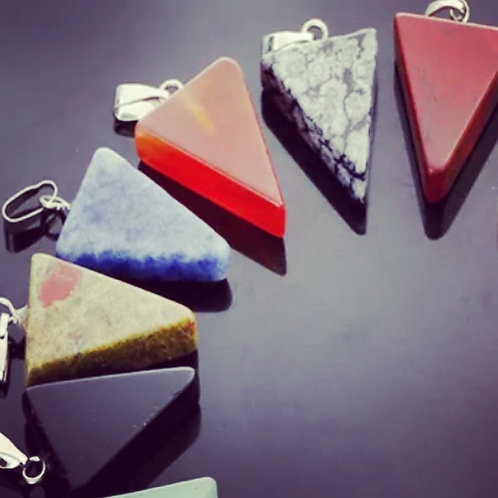 Triangle Gemstone Pendant