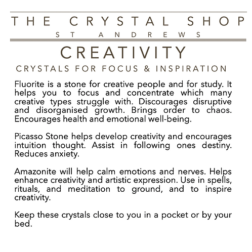 Crystal Healing Box CREATIVITY