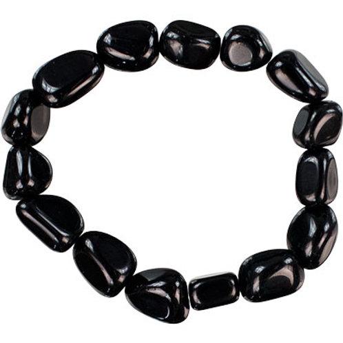 Obsidian Gemstone Chunky Bracelet