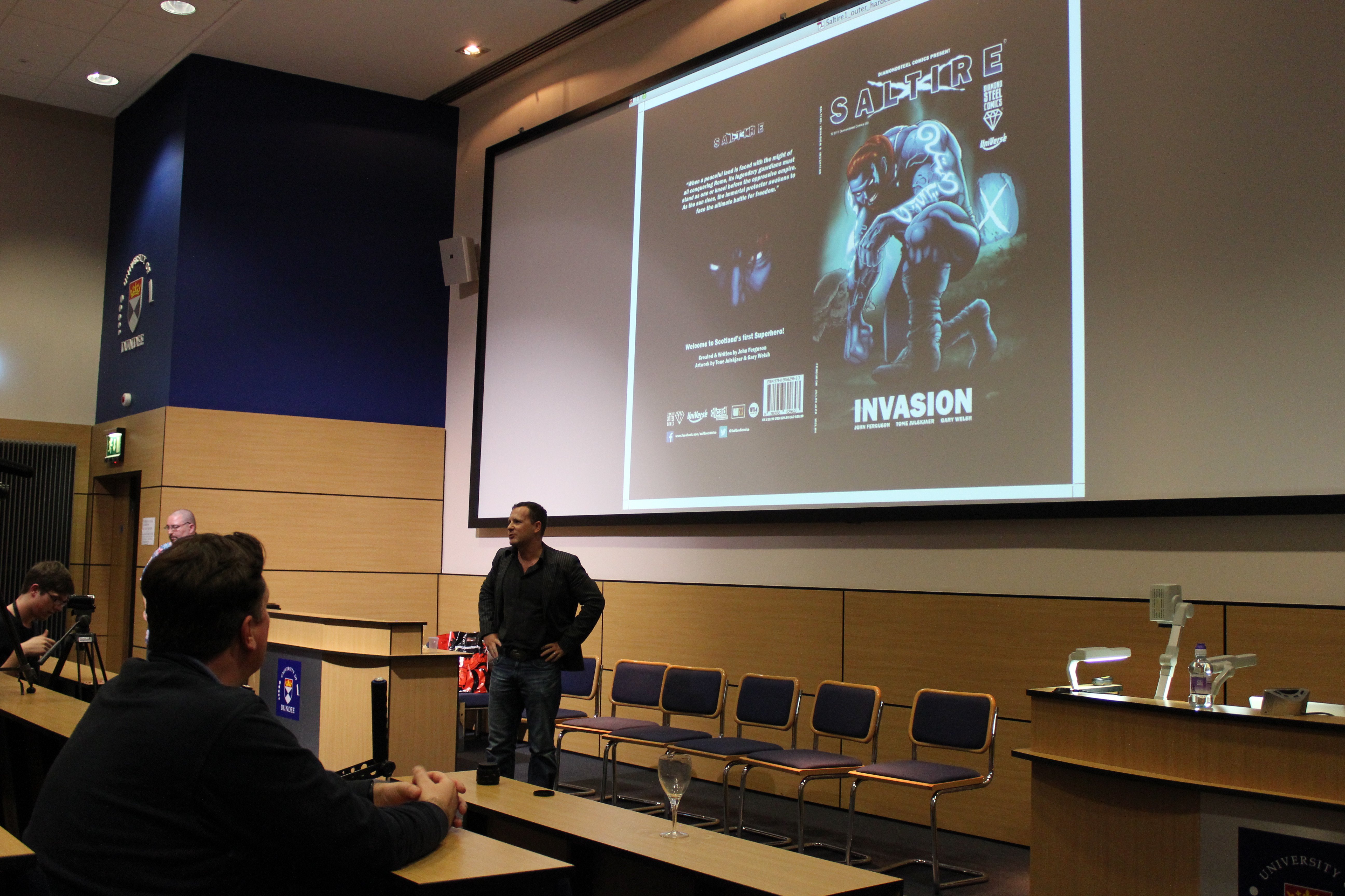 John Ferguson saltire comic book