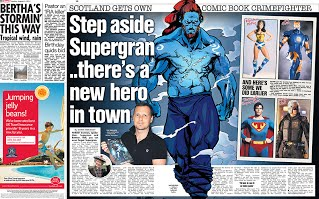 Saltire Superhero comic book