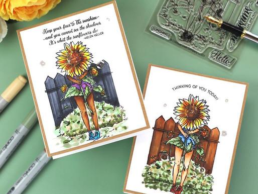 Lovely Legs Summer Season Girl~Sunflowers with Bibi Cameron
