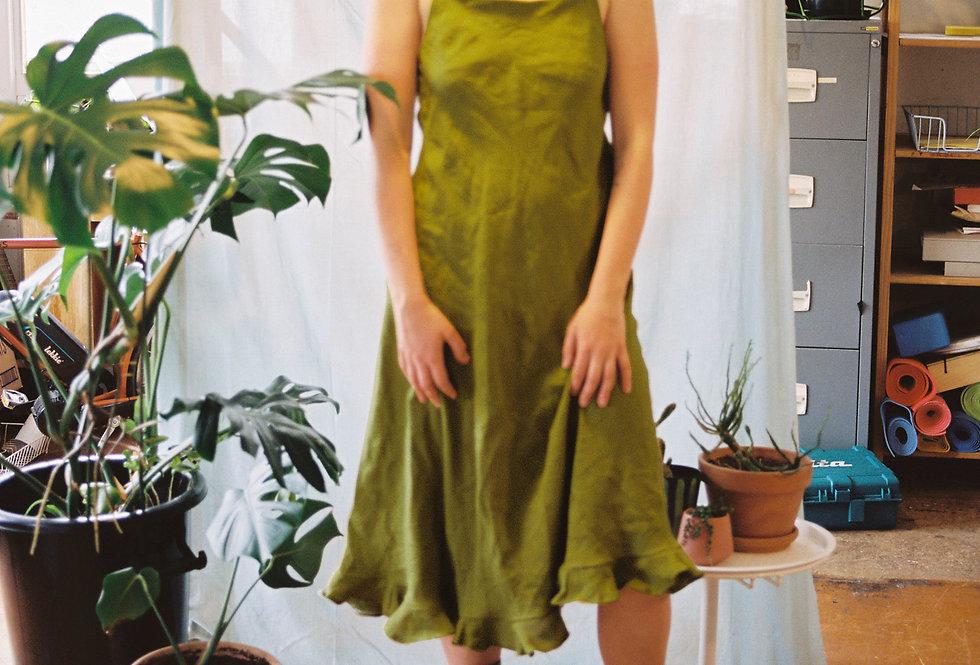 Bellflower Dress ( Moss)