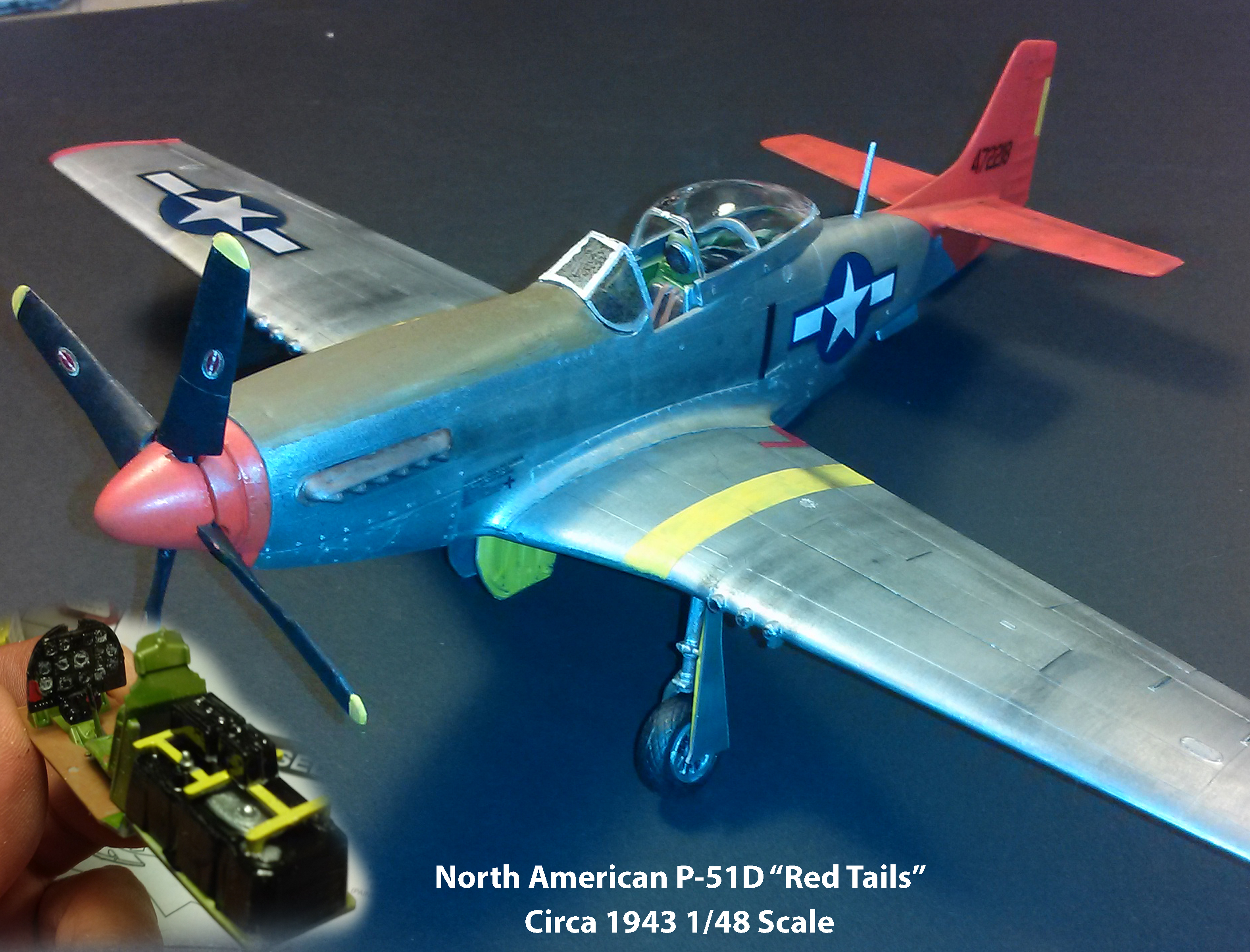 "North American P-51D ""Red Tails"""