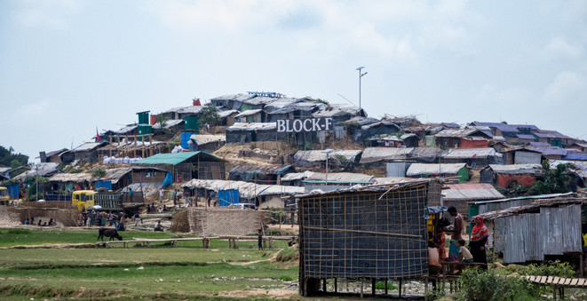 Many of the 34 camps in Cox's Bazar are organised into blocks like this one in Camp 15.  © RSG/Nguyen Phi Yen