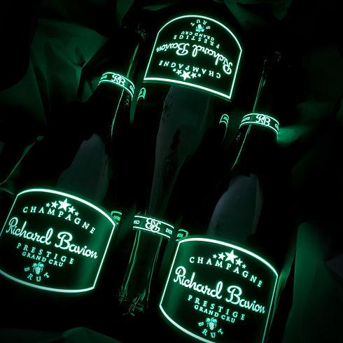 Champagne Luminous Label