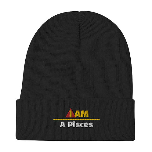 i am a pisces Embroidered Beanie