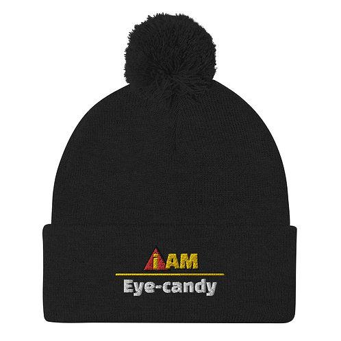 i am eye-candy Pom-Pom Beanie
