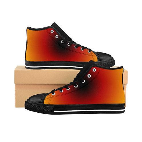 WLA-Design Sun Men's High-top Sneakers by Warning Label Apparel