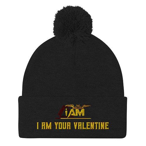 i am your valentine Pom-Pom Beanie