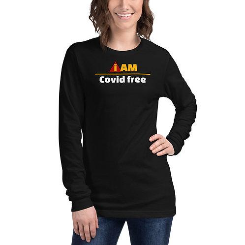 i am covid free women's Long Sleeve Tee