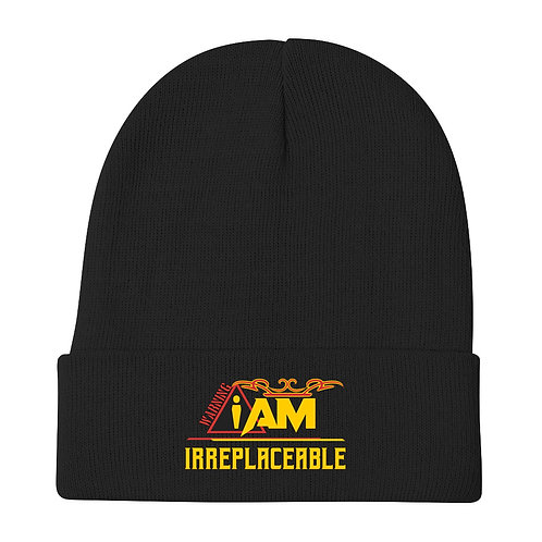i am irreplaceable Embroidered Beanie