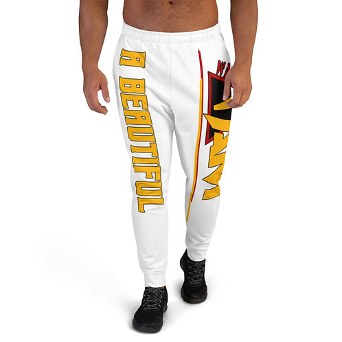 i am a beautiful human being Men's Joggers