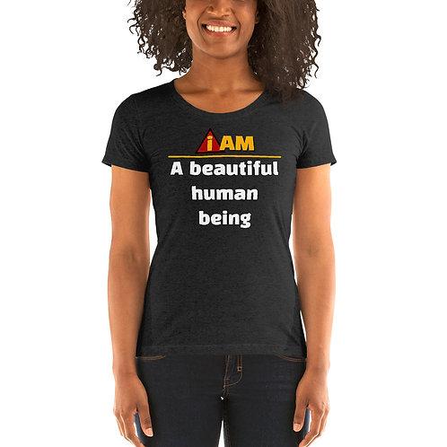 i am a beautiful person women's t-shirt